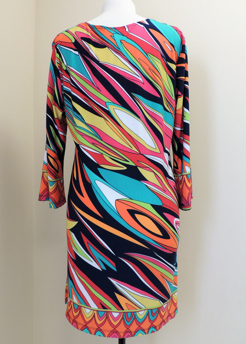 J.Valdi Multi-Color Print Dress (XL)