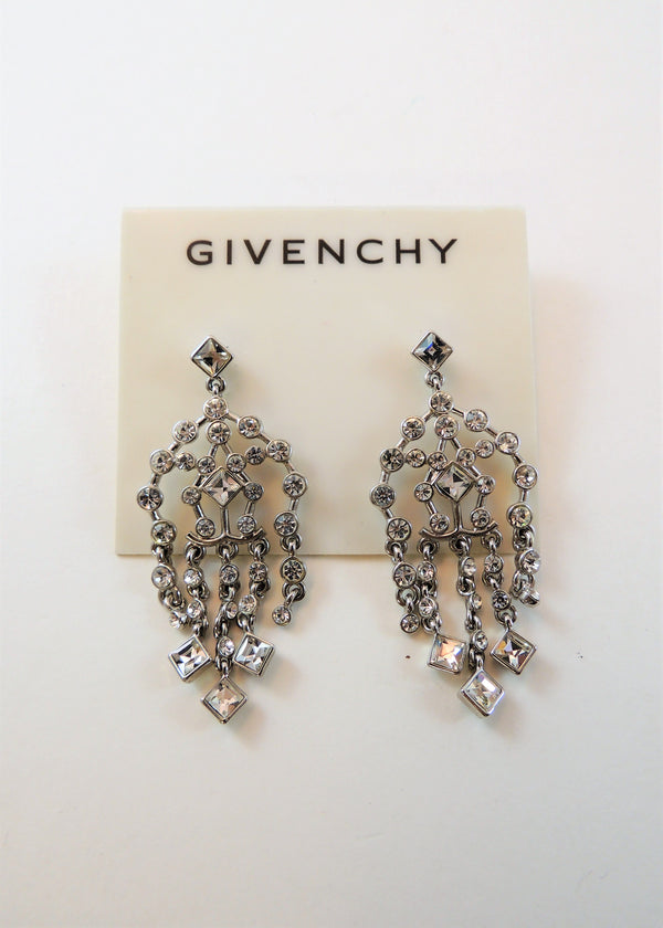 NEW Givenchy Rhinestone Chandelier Earrings