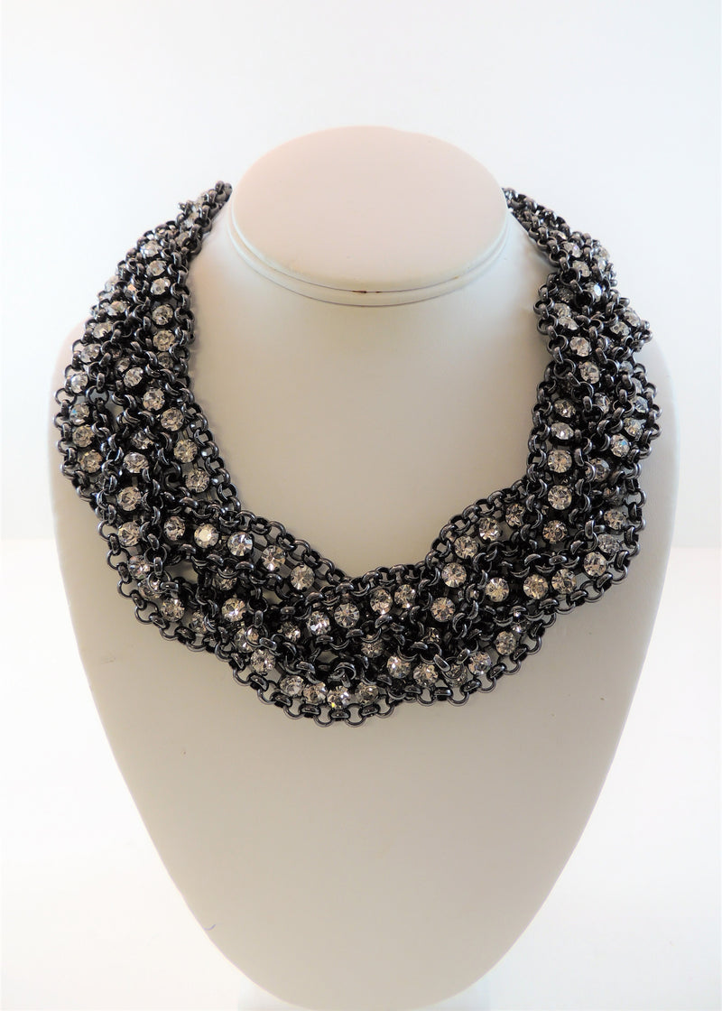 Black & Rhinestone Necklace
