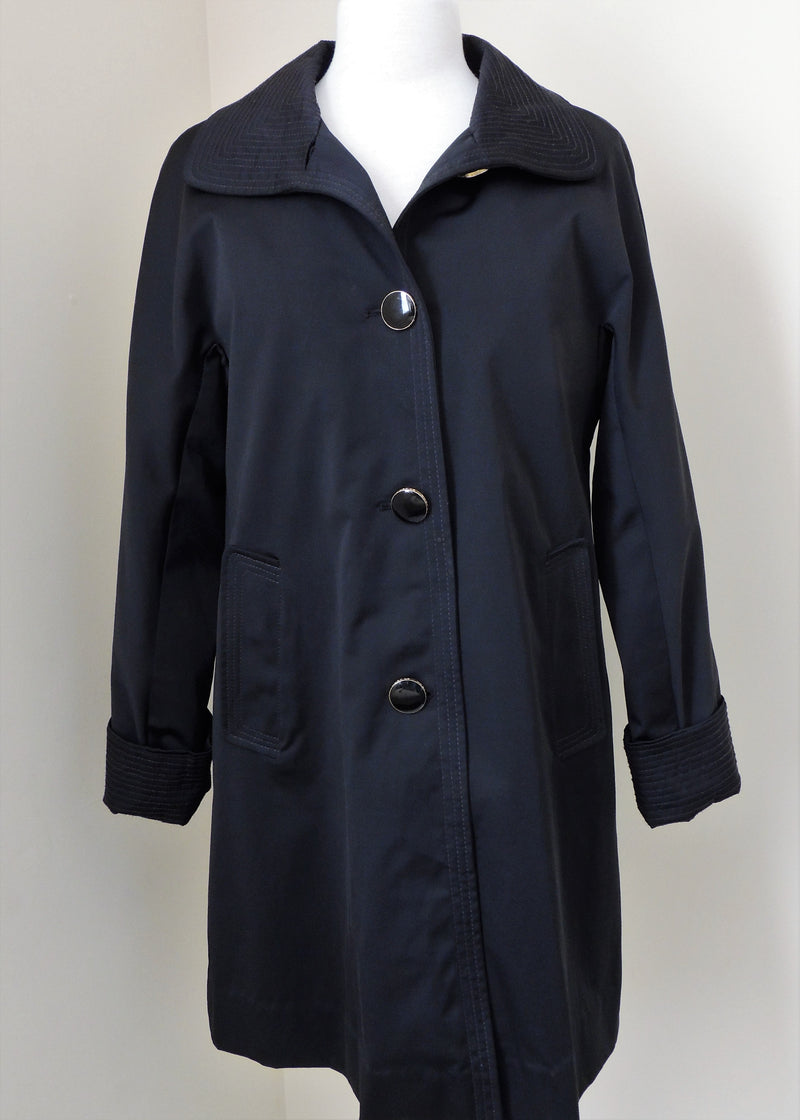 St. John Black 3/4 Trench Coat (S)