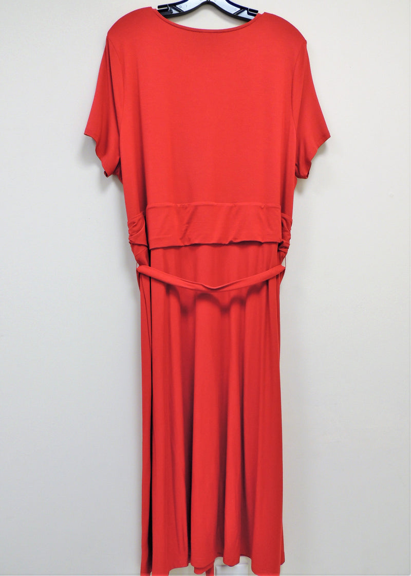 NEW Talbots Red Wrap Dress (2X) (Plus Size)