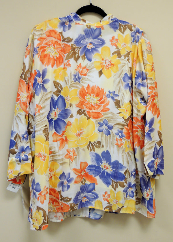 NEW Alfred Dunner Multi-color Button Down Top (2X) (Plus Size)
