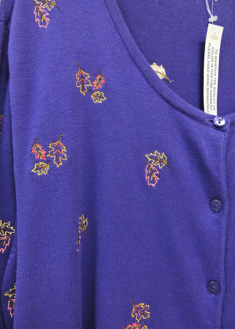 NEW Purple Sweater with Leaf Design (3X) (Plus Size)
