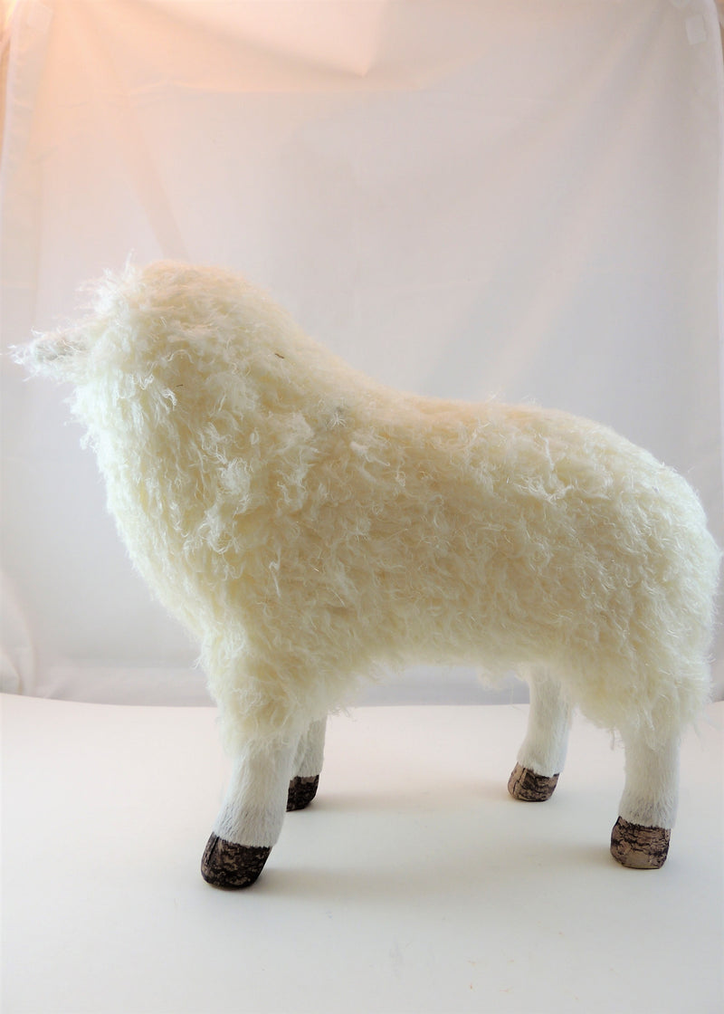 Faux Fur Standing Sheep