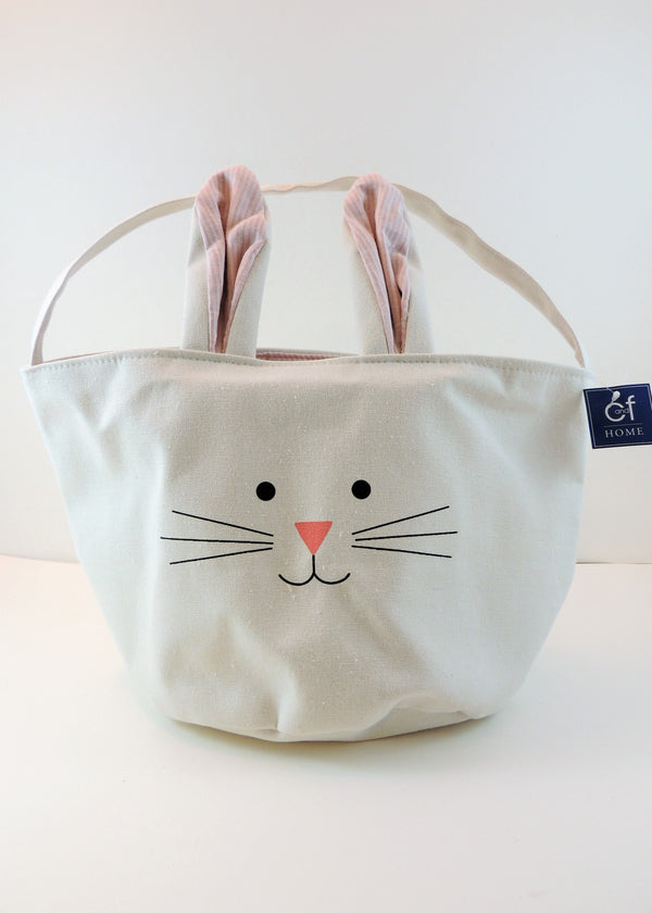 White Bunny Bucket Bag