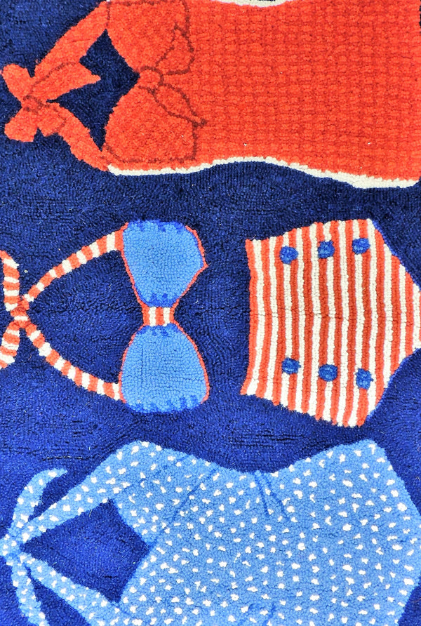 Red/White/Blue Bathing Suit Rug (2'x3')
