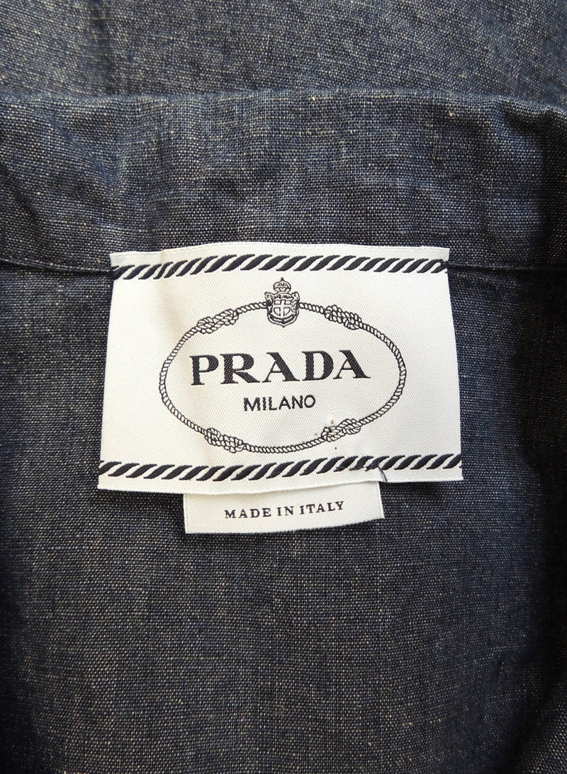 Prada Denim Short Sleeve Jacket (6)