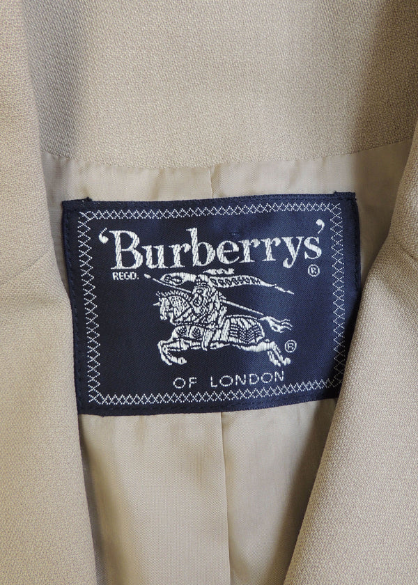 Burberry London Light Tan Buttoned Blazer (10)