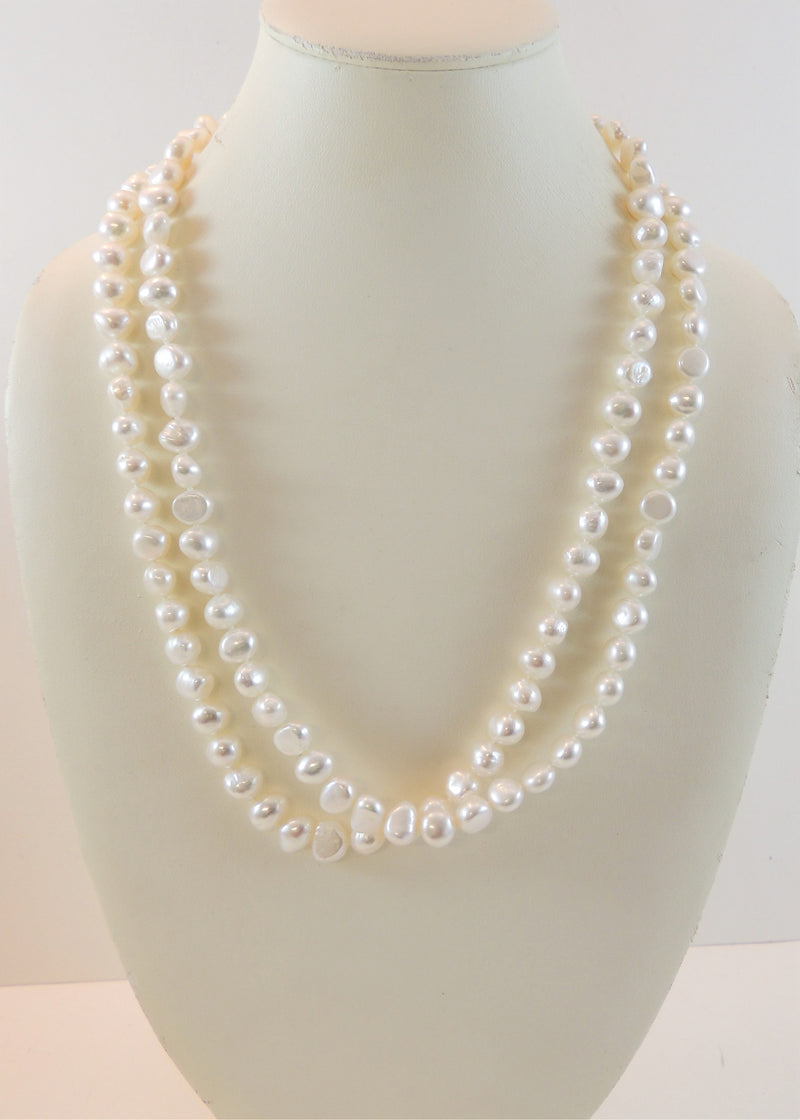 Long Pearl Necklace (42 in)