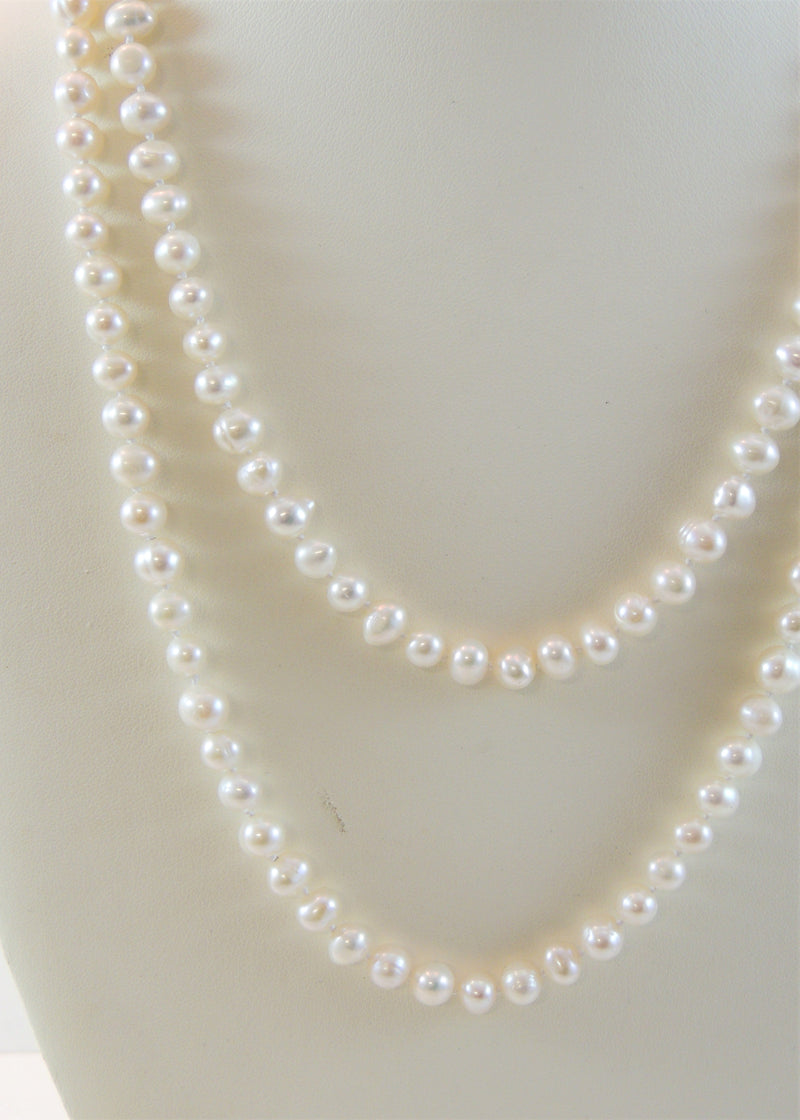 Long Pearl Necklace (40 in)