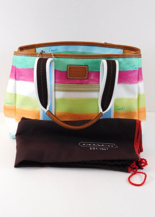Coach Multi Color Shoulder Bag with Dust Cover