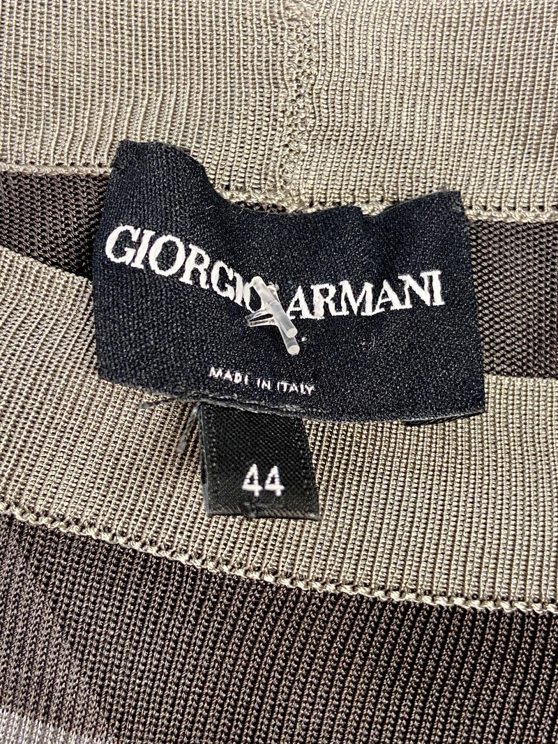 Giorgio Armani Grey Stripe Top (10)