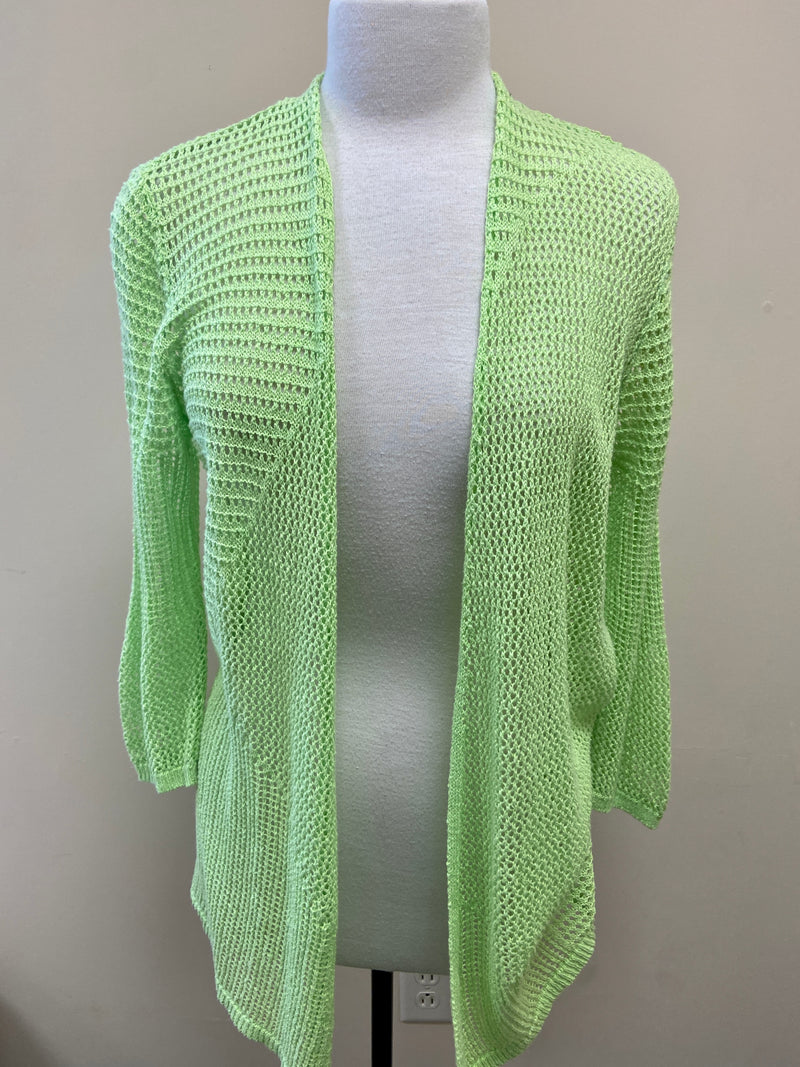 Chico's Lime Green Open Sweater (S/M)