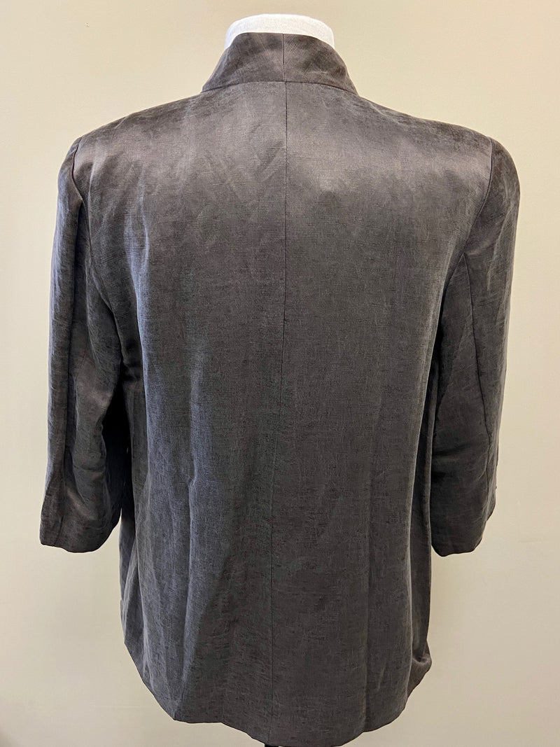 NEW Eileen Fisher Taupe 3/4 Sleeve Jacket (S)