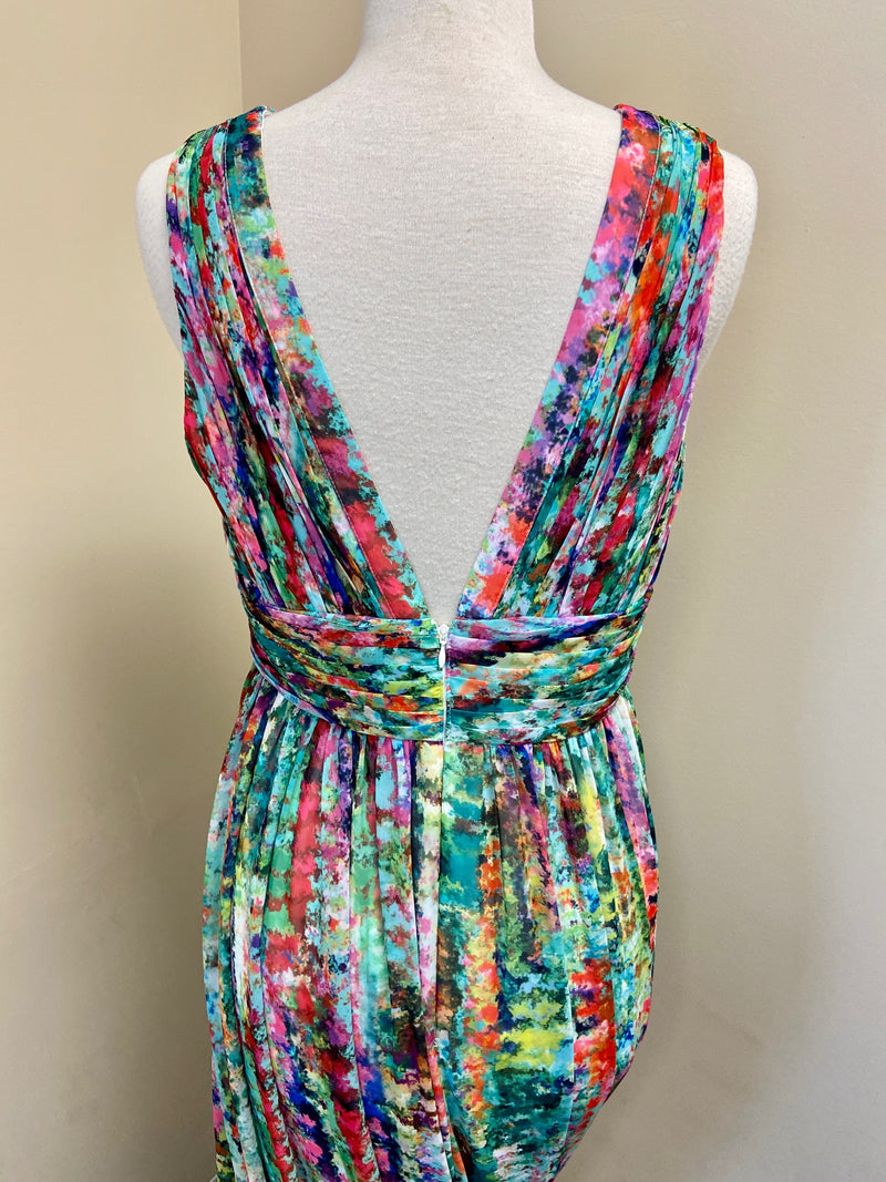 NEW Aidan Mattox Multi-Color Maxi Dress (12)