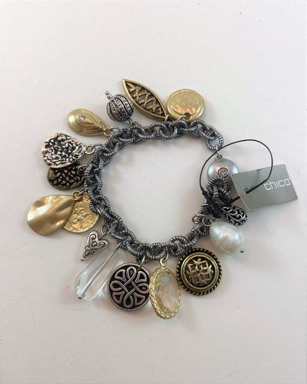 Chico's Gold/Silver Charm Bracelet (NWT)