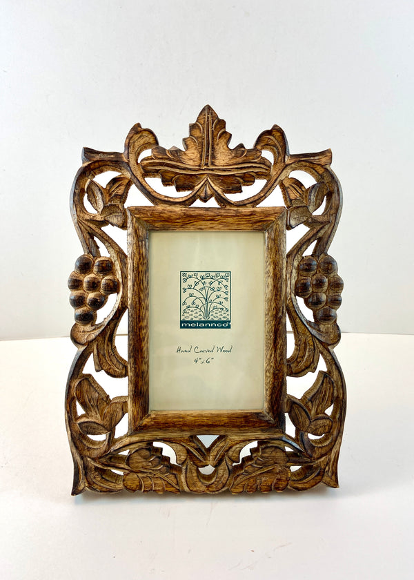 Hand-Carved Wood Frame (4x6)