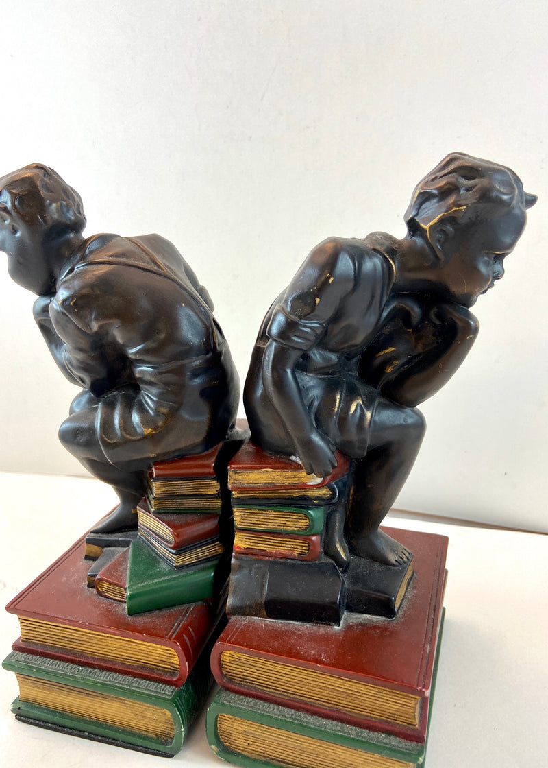 Twin Boys Book Ends
