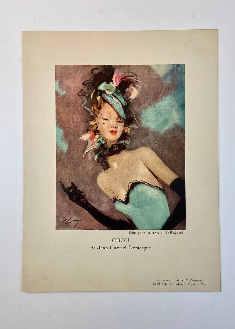 """Le Cabaret"" Vintage French Menu"