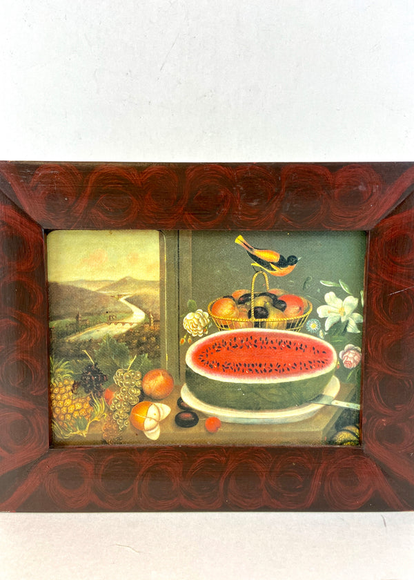 Fruit & Gold Finch 1858 Oil Print