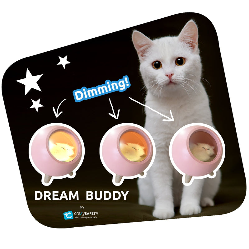 Dream Buddy LED Natlampe - Pink
