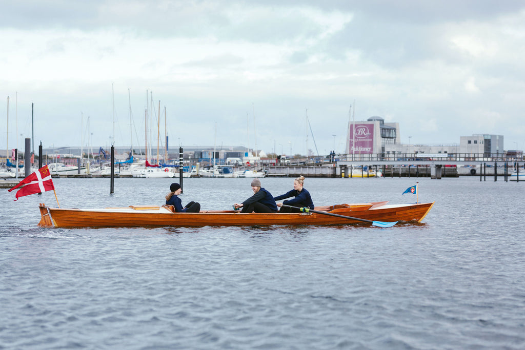 Rowing on the Øresund Strait