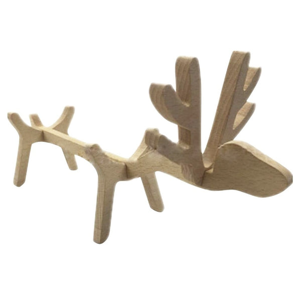 Adorable elk Wooden Wine Rack Creative Wine Ornament Home Decor Great Gift