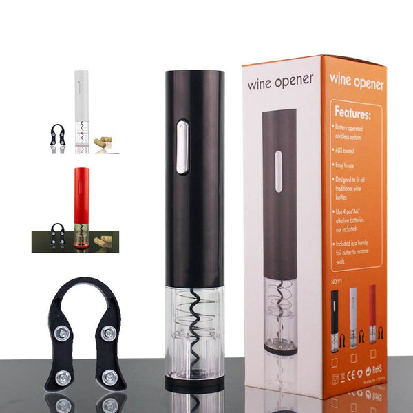 Cordless Corkscrew Wine Opener Automatic Foil Cutter Electric Wine Bottle Openers Portable 1 Set