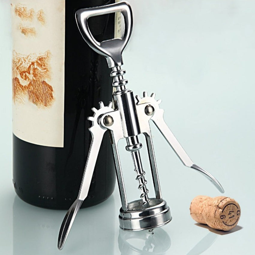 1pcs Stainless Steel Bottle Opener Wine Openers Metal Red Wine Handle Corkscrew Cork Out Tool