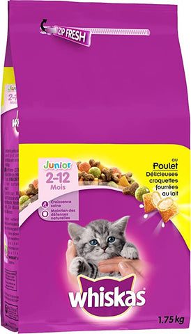 Chat Croquettes Junior Poulet 1,75KG