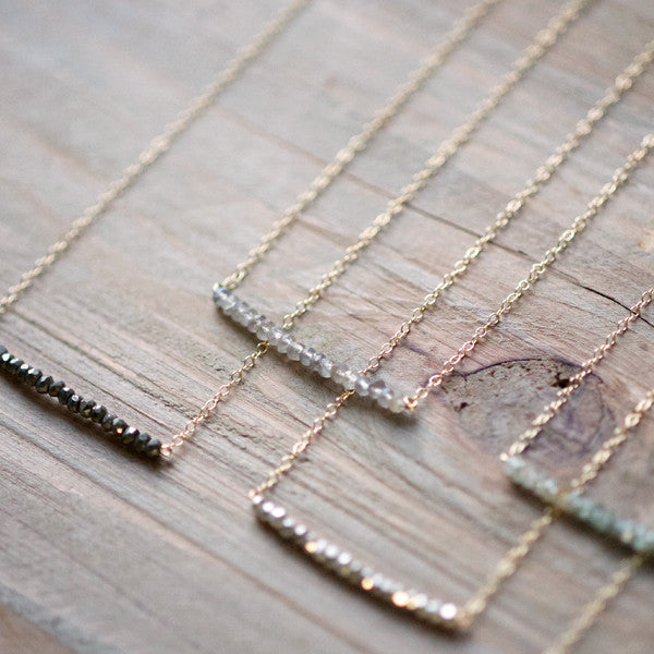 Short Line Necklace - Detail 2