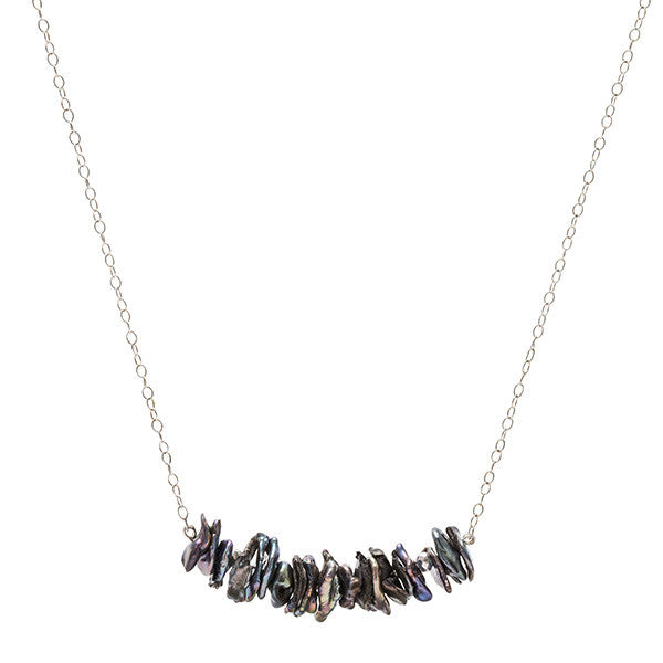 Short Chunky Line Necklace - Silver