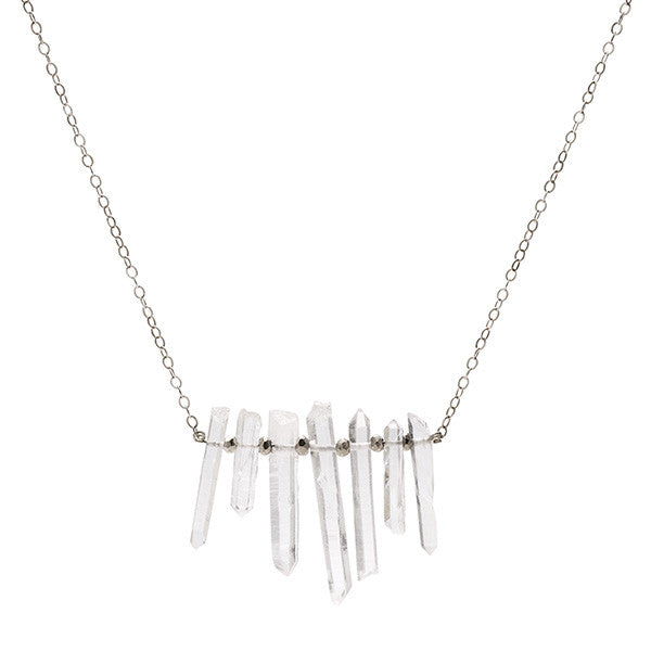 Quartz Necklace - Silver