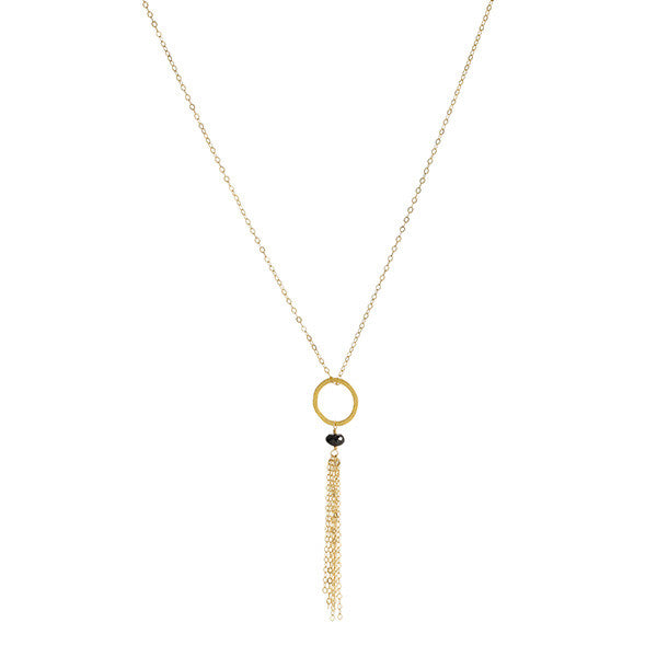 Small Tassel Necklace - Spinel