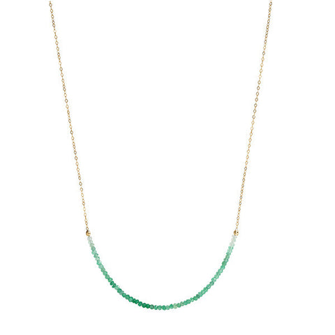 Long Line Necklace - Green Onyx