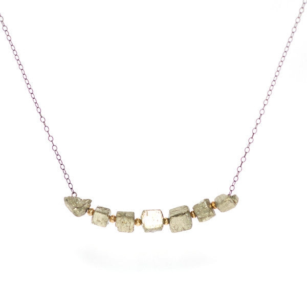 Chunky Line Necklace - Oxidized