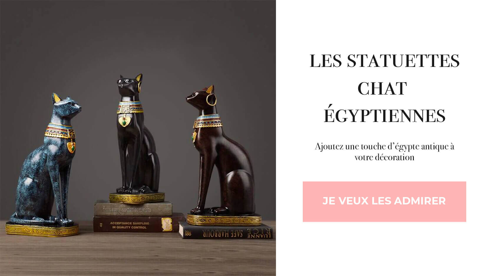 statuettes chat egyptiennes