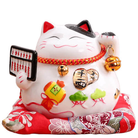 Statuette chat chinois
