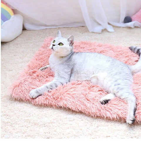 tapis pour chat rose