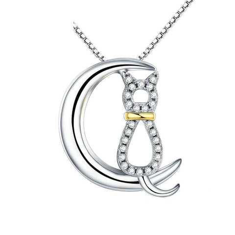 collier chat lune