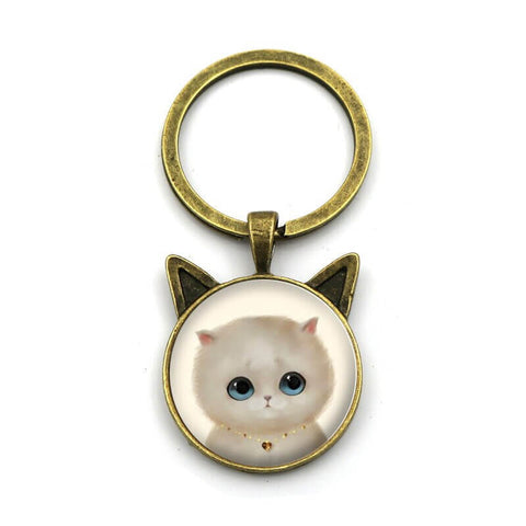 porte cle chat grand yeux