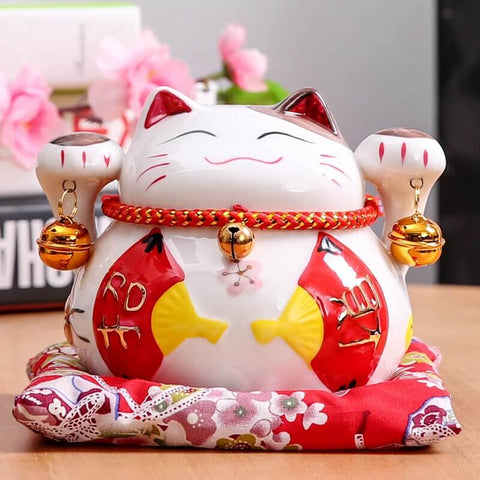 statuette chat chinois sonette