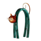 statuette chat courbé