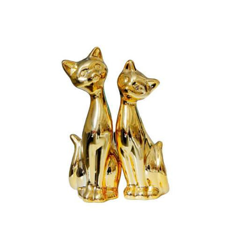 statuette chat or