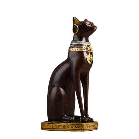 statuette chat egypte rouge