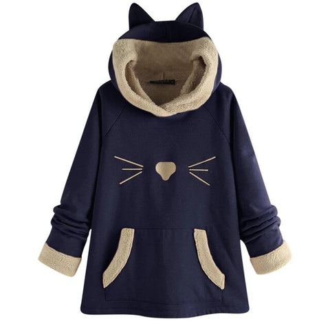 sweat avec capuche chat