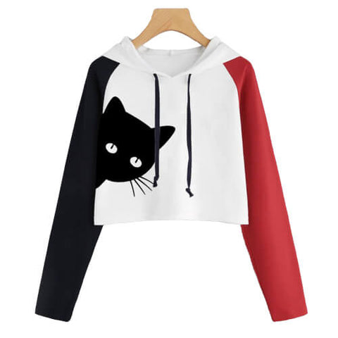 sweat chat femme court