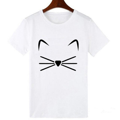 t shirt moustache chat
