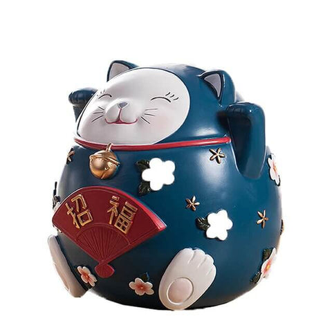 tirelire chat asiatique bleue
