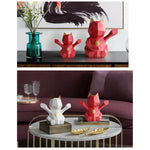 tirelires statuettes chat origami